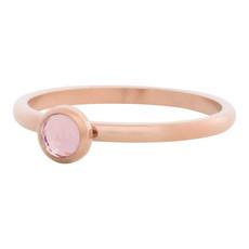 iXXXi Jewelry iXXXi vulring 2 mm Zirconia Stone Pink Rosé Gold Plated R04107-02