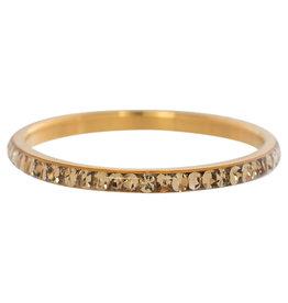 iXXXi Jewelry iXXXi vulring 2 mm Zirconia Topaz Gold Plated R02505-01