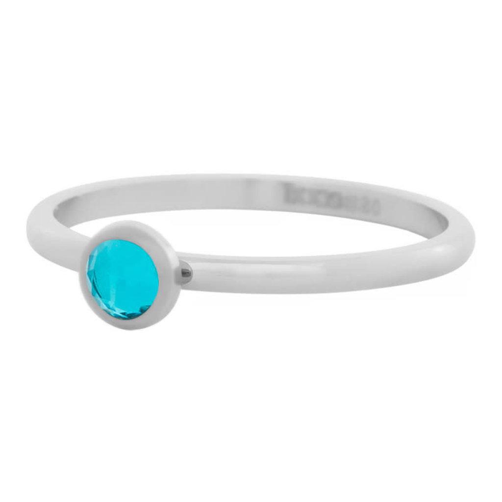 iXXXi Jewelry iXXXi vulring 2 mm Zirconia Stone Water Blue Stainless Steel R04104-03
