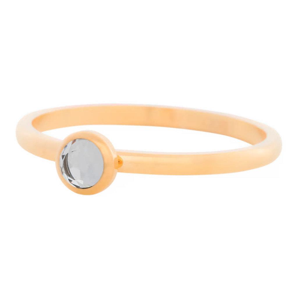 iXXXi Jewelry iXXXi vulring 2 mm Zirconia Stone White Gold Plated R04106-01