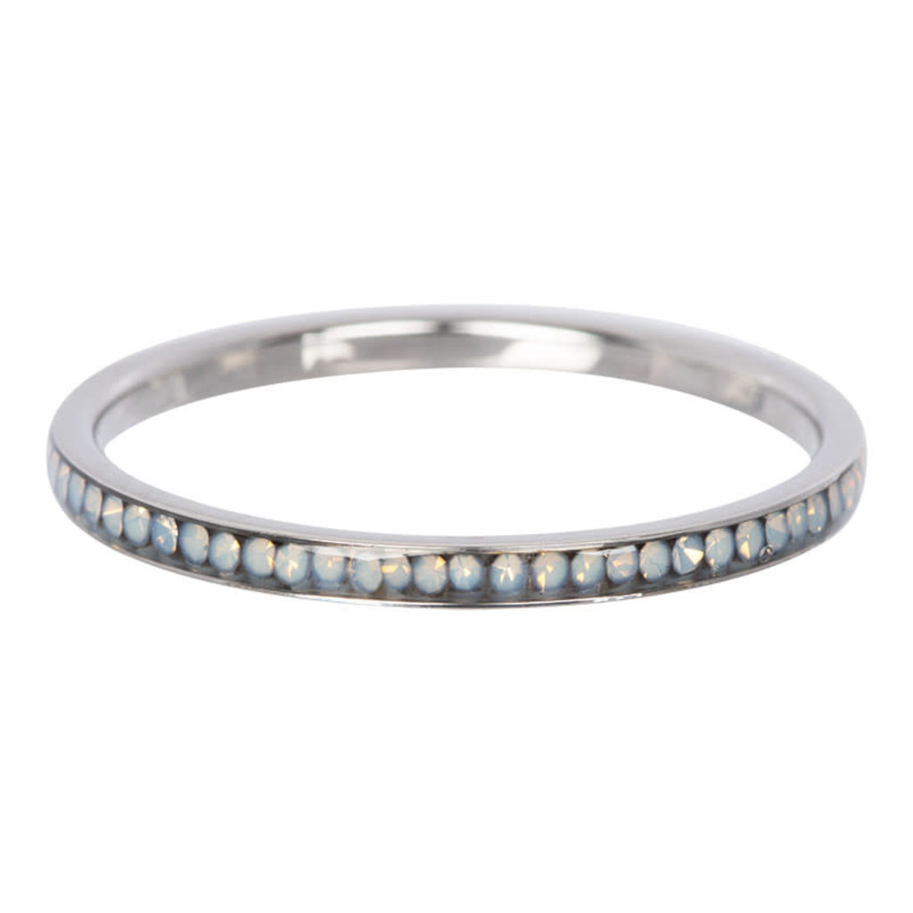 iXXXi Jewelry iXXXi vulring 2 mm Zirconia White Opal Stainless Steel R02509-03