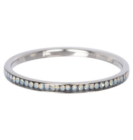 iXXXi Jewelry iXXXi vulring 2 mm Zirconia White Opal Stainless Steel R02509-03