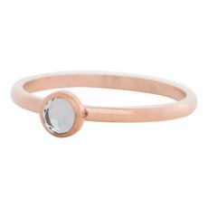 iXXXi Jewelry iXXXi vulring 2 mm Zirconia Stone White Rosé Gold Plated R04106-02