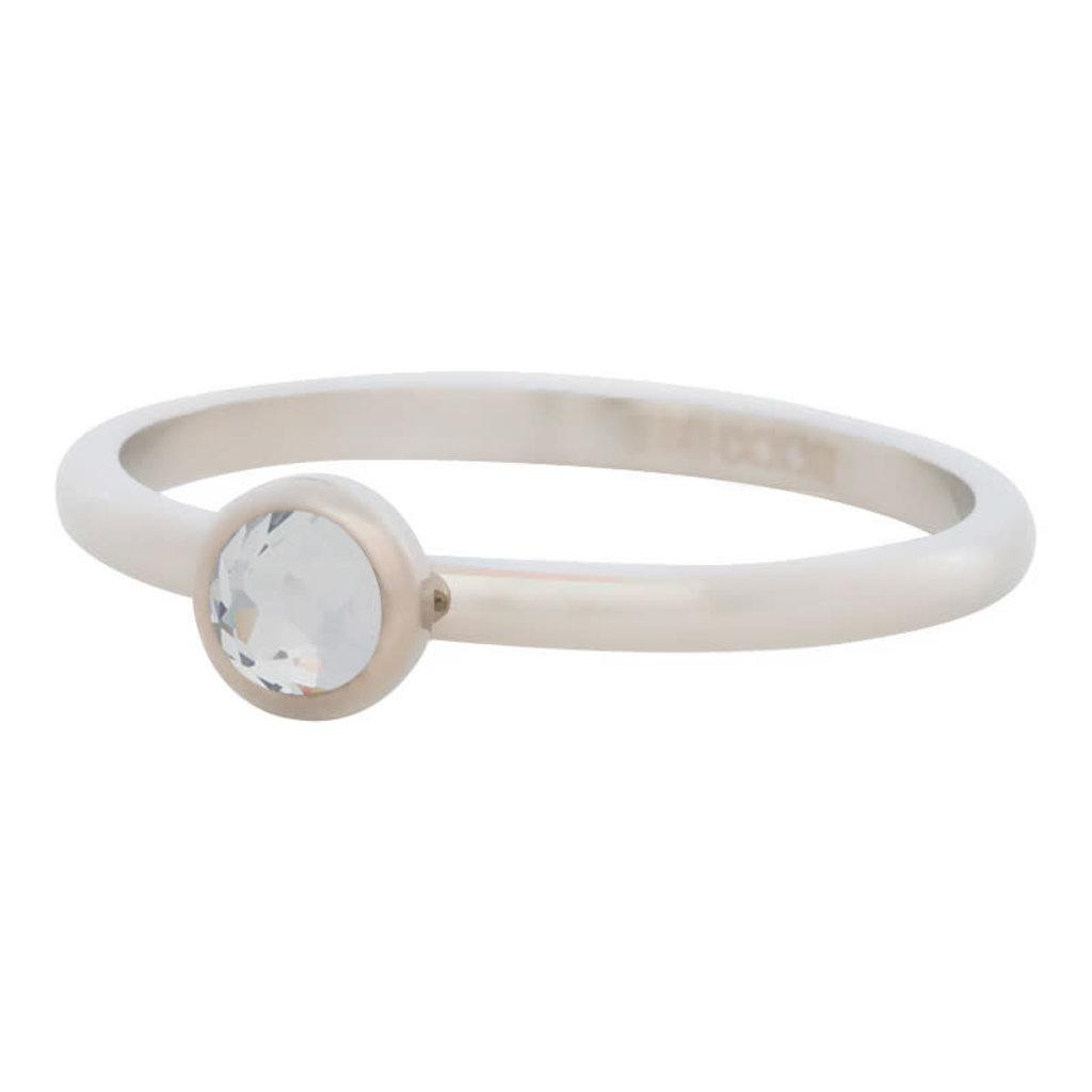 iXXXi Jewelry iXXXi vulring 2 mm Zirconia Stone White Stainless Steel R04106-03