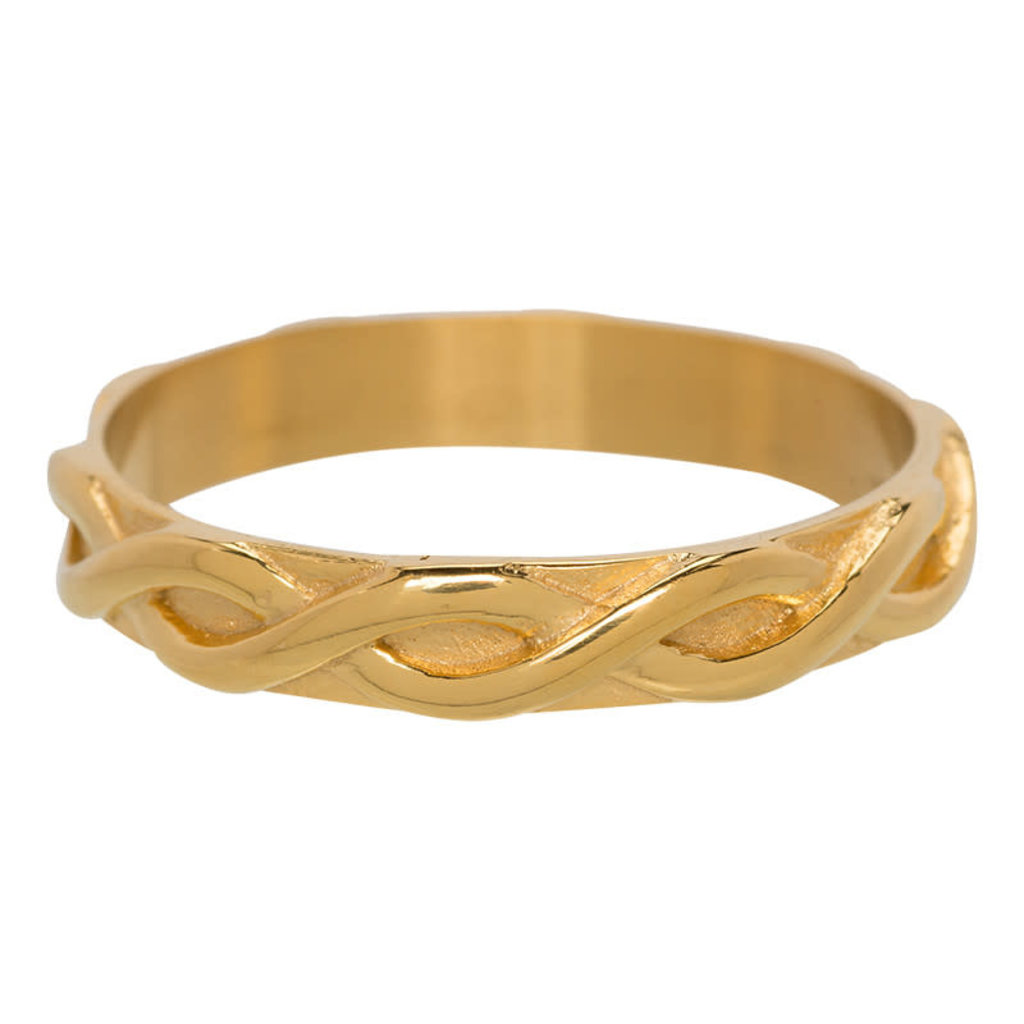 iXXXi Jewelry iXXXi vulring 4 mm Braided Gold Plated R03202-01