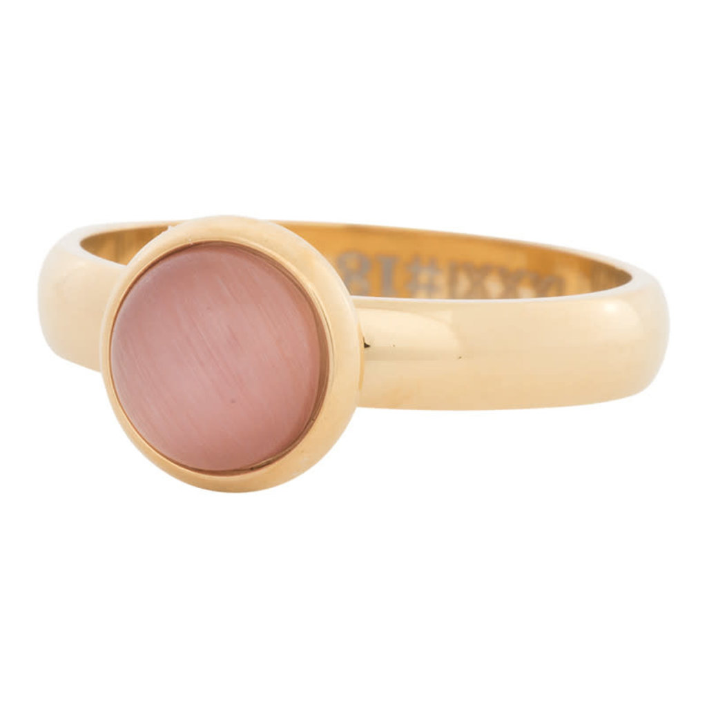 iXXXi Jewelry iXXXi vulring 4 mm Cateye Pink Gold Plated R04309-01