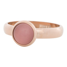 iXXXi Jewelry iXXXi vulring 4 mm Cateye Pink Rosé Gold Plated R04309-02