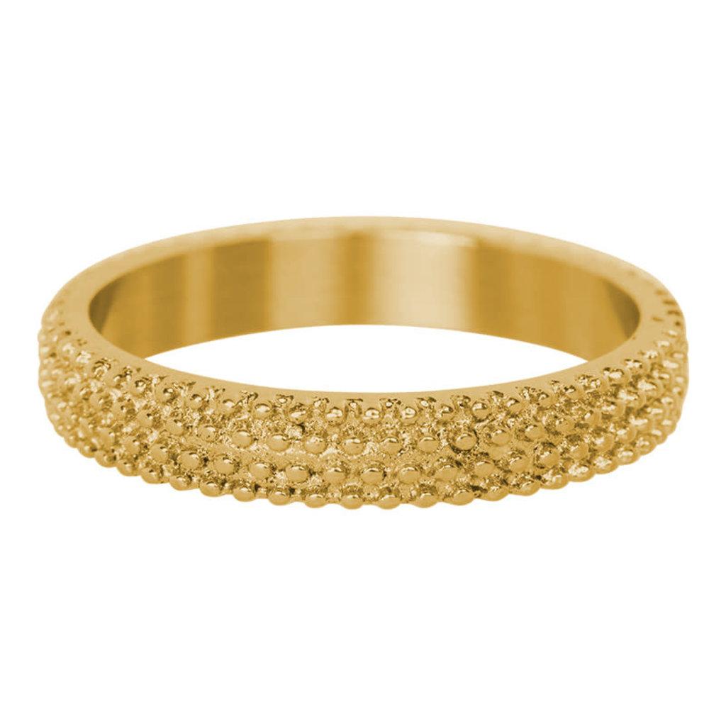 iXXXi Jewelry iXXXi vulring 4 mm Caviar Gold Plated R03801-01
