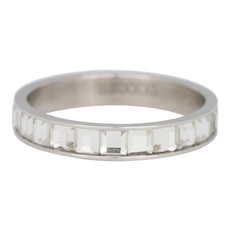 iXXXi Jewelry iXXXi vulring 4 mm Clear Glass White Stainless Steel R03007-03