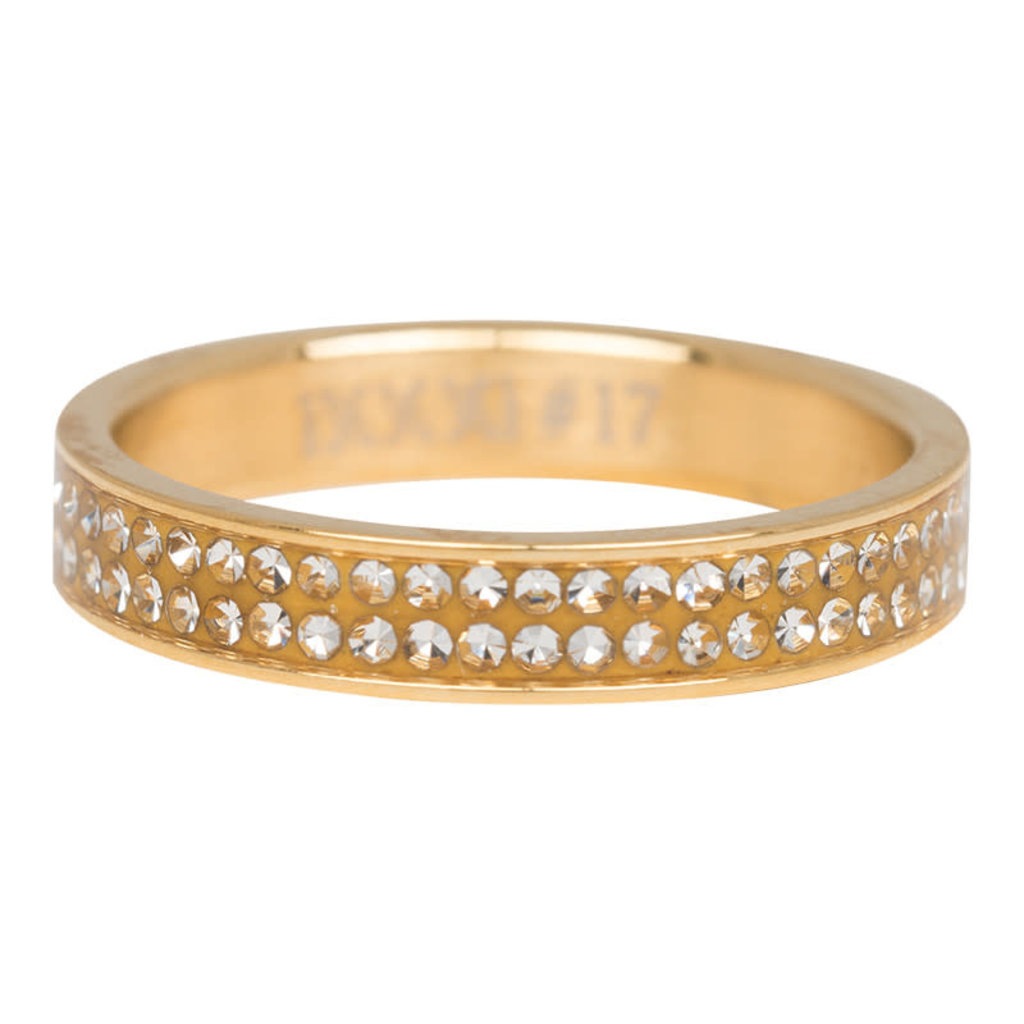 iXXXi Jewelry iXXXi vulring 4 mm Double Zirconia Gold Plated R03704-01