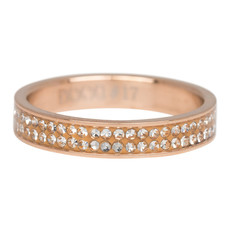 iXXXi Jewelry iXXXi vulring 4 mm Double Zirconia Rosé Gold Plated R03704-02