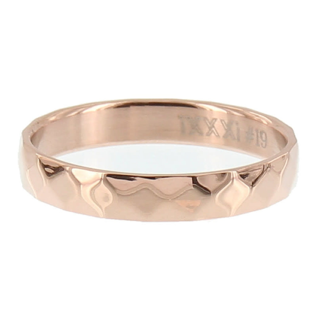 iXXXi Jewelry iXXXi vulring 4 mm Facet Steel Rosé Gold Plated R02904-02