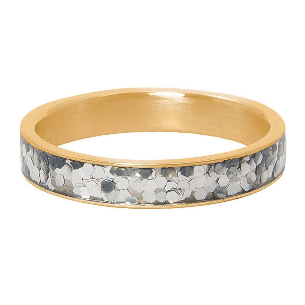 iXXXi Jewelry iXXXi vulring 4 mm Glitter Confetti Gold Plated R04602-01