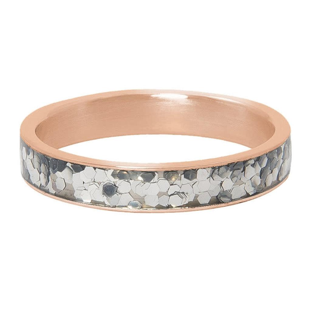 iXXXi Jewelry iXXXi vulring 4 mm Glitter Confetti Rosé Gold Plated R04602-02