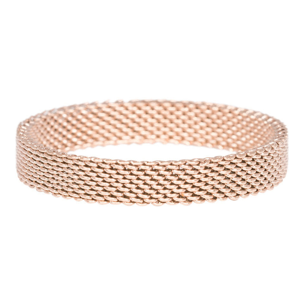 iXXXi Jewelry iXXXi vulring 4 mm Mesh Rosé Gold Plated R03206-02