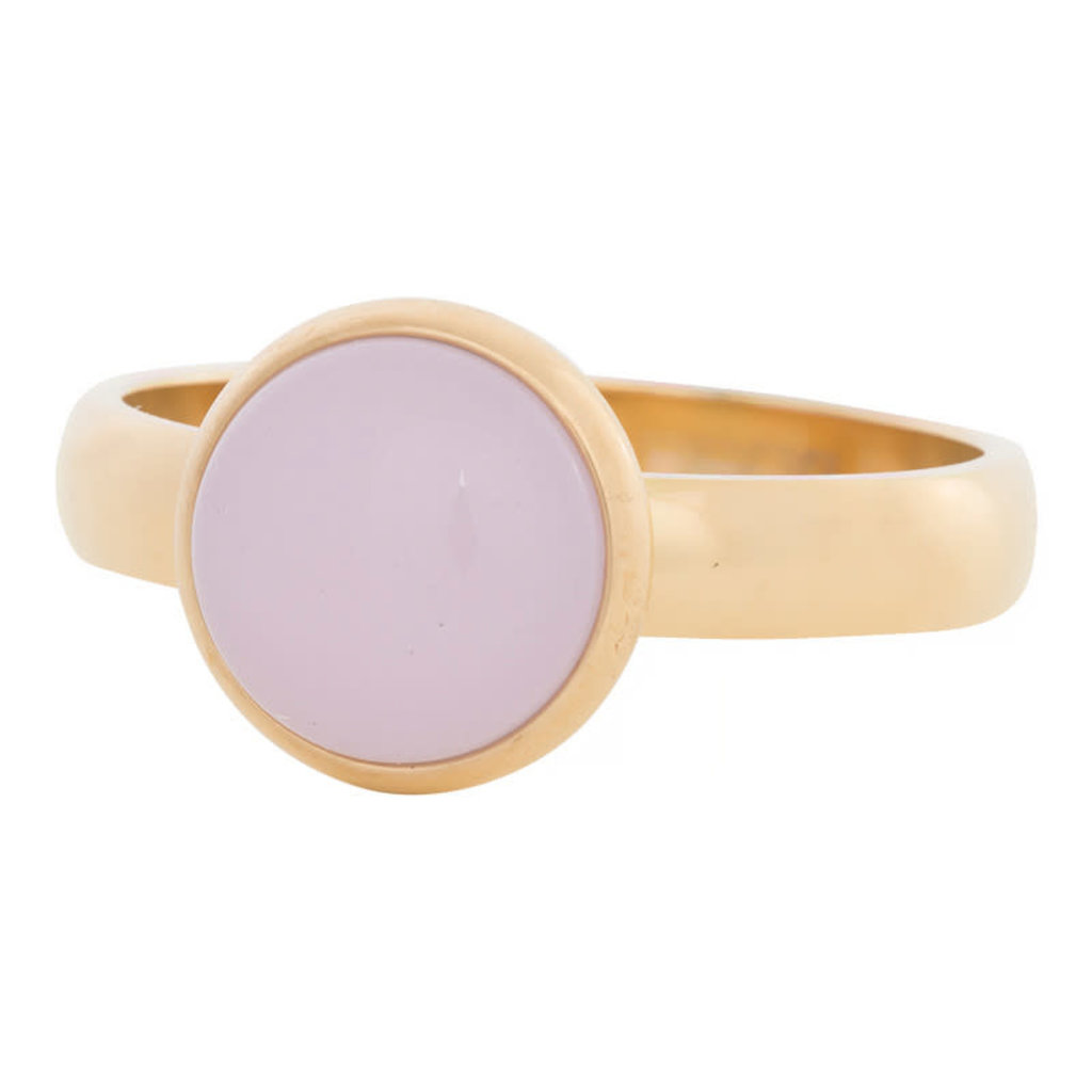 iXXXi Jewelry iXXXi vulring 4 mm Pink Stone Gold Plated R04304-01