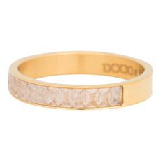 iXXXi Jewelry iXXXi vulring 4 mm Snow Glitter Gold Plated R04601-01