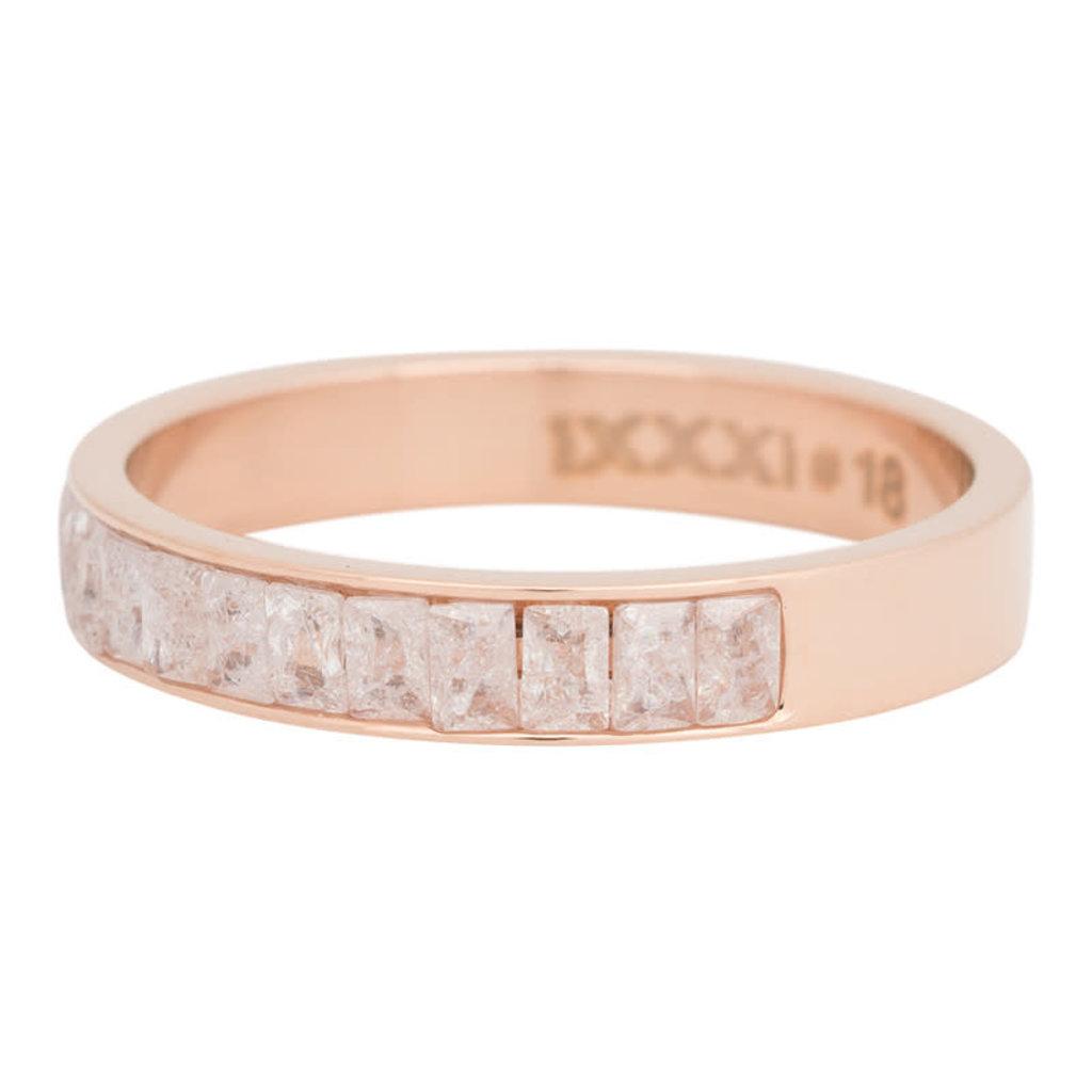 iXXXi Jewelry iXXXi vulring 4 mm Snow Glitter Rosé Gold Plated R04601-02