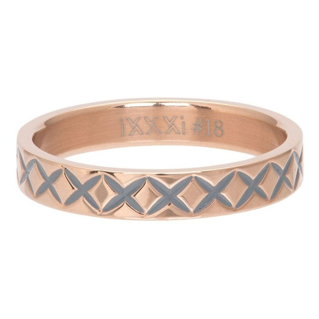 iXXXi Jewelry iXXXi vulring 4 mm X Line Rosé Gold Plated R03209-02