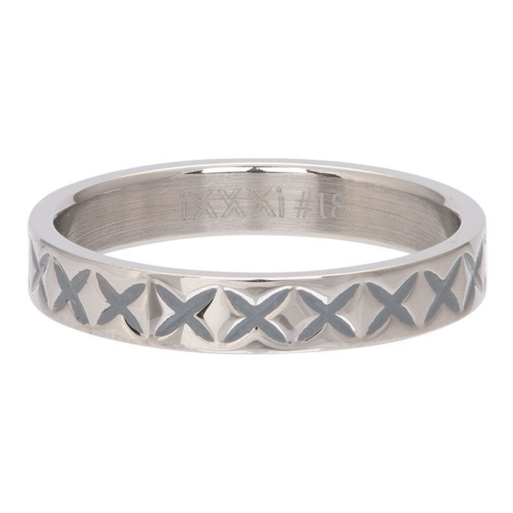 iXXXi Jewelry iXXXi vulring 4 mm X Line Stainless Steel R03209-03