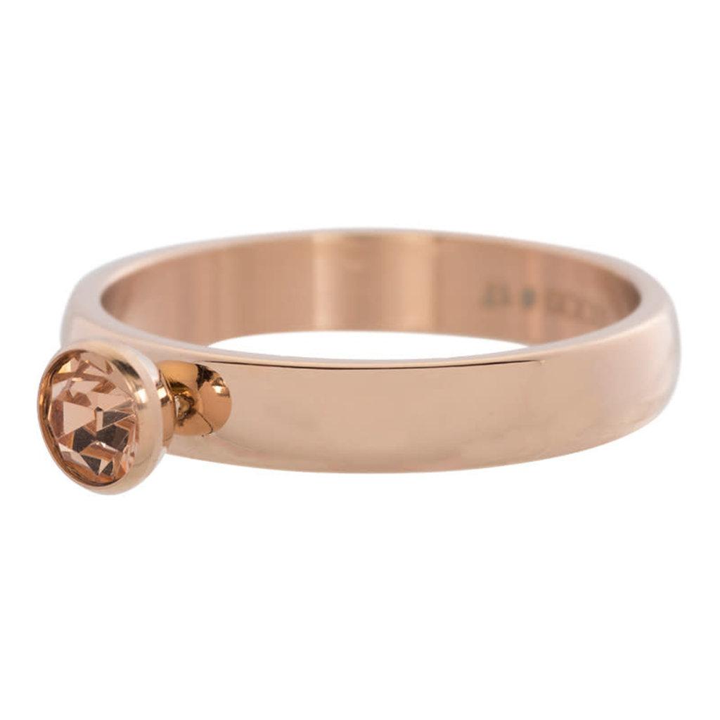 iXXXi Jewelry iXXXi vulring 4 mm Zirconia Stone Champagne Rosé Gold Plated R03003-02