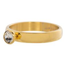 iXXXi Jewelry iXXXi vulring 4 mm Zirconia Stone Crystal Gold Plated R03001-01