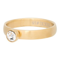 iXXXi Jewelry iXXXi vulring 4 mm Zirconia Stone Crystal Matt Gold Plated R03001-10