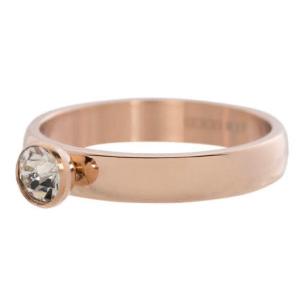 iXXXi Jewelry iXXXi vulring 4 mm Zirconia Stone Crystal Rosé Gold Plated R03001-02