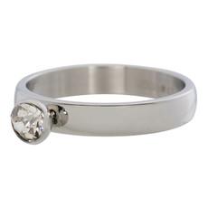 iXXXi Jewelry iXXXi vulring 4 mm Zirconia Stone Crystal Stainless Steel R03001-03
