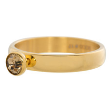 iXXXi Jewelry iXXXi vulring 4 mm Zirconia Stone Topaz Gold Plated R03002-01