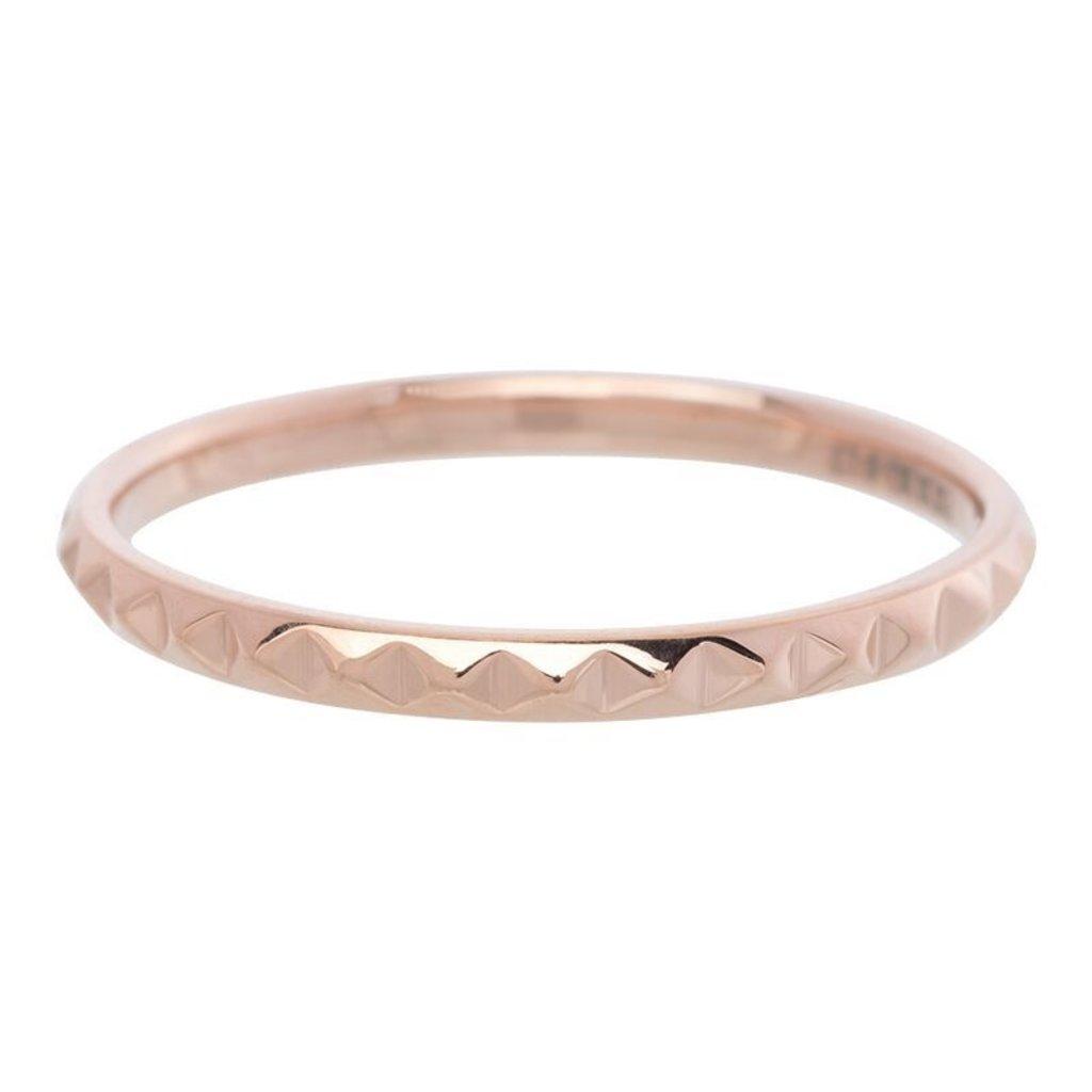 iXXXi Jewelry iXXXi vulring 2 mm Pyramid Rosé Gold Plated R02804-02