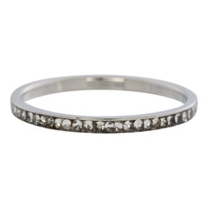 iXXXi Jewelry iXXXi vulring 2 mm Zirconia Crystal Stainless Steel R02501-03