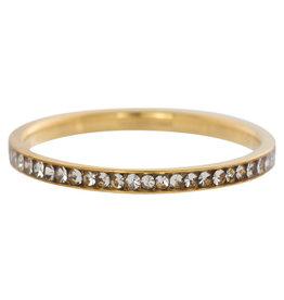 iXXXi Jewelry iXXXi vulring 2 mm Zirconia Crystal Gold Plated R02501-01