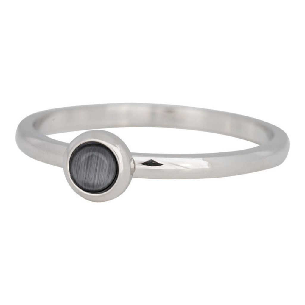 iXXXi Jewelry iXXXi vulring 2 mm Natural Stone Grey Stainless Steel R04101-03
