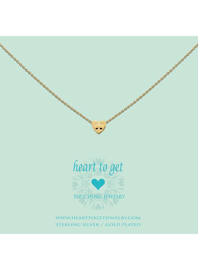 Heart for Initials hanger Symbol Babyfeet
