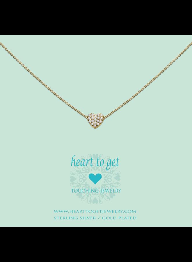 Heart for Initials hanger Symbol Heart Zirkonia Gold Plated