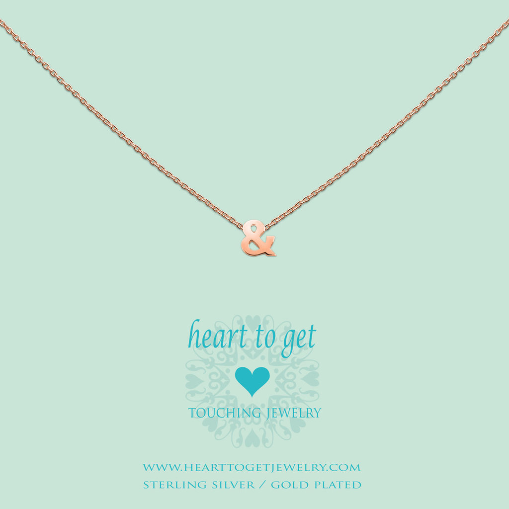 Heart to Get Heart for Initials hanger Symbol  & (and)
