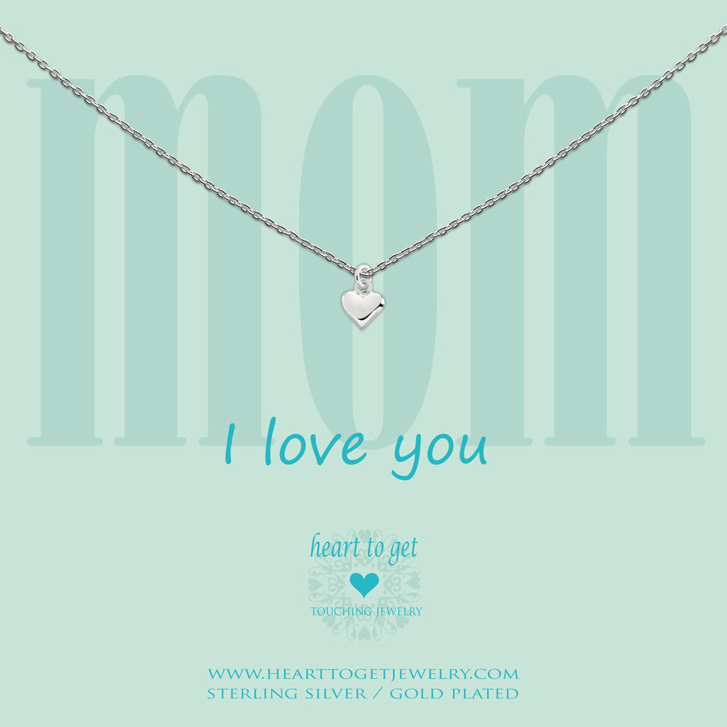 Heart to Get Heart to Get ketting Small Heart Silver