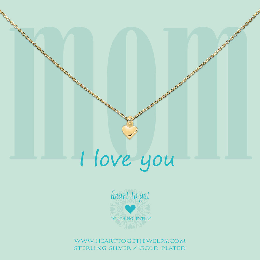 Heart to Get Heart to Get ketting Small Heart Gold Plated