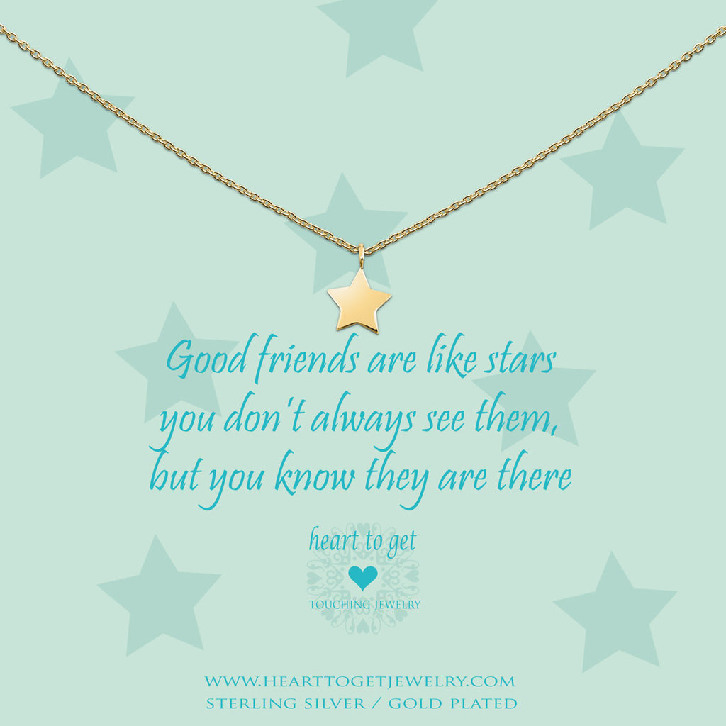 Heart to Get Heart to Get ketting Star Gold Plated