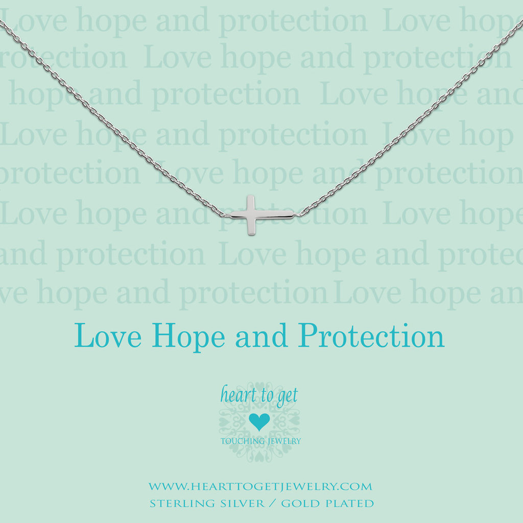 Heart to Get Heart to Get ketting Cross Silver