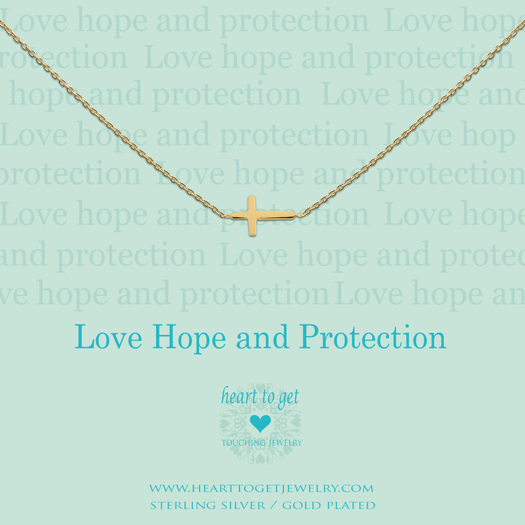 Heart to Get Heart to Get ketting Cross Gold Plated