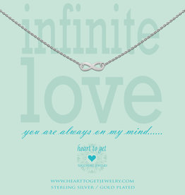 Heart to Get Heart to Get ketting Infinity Silver