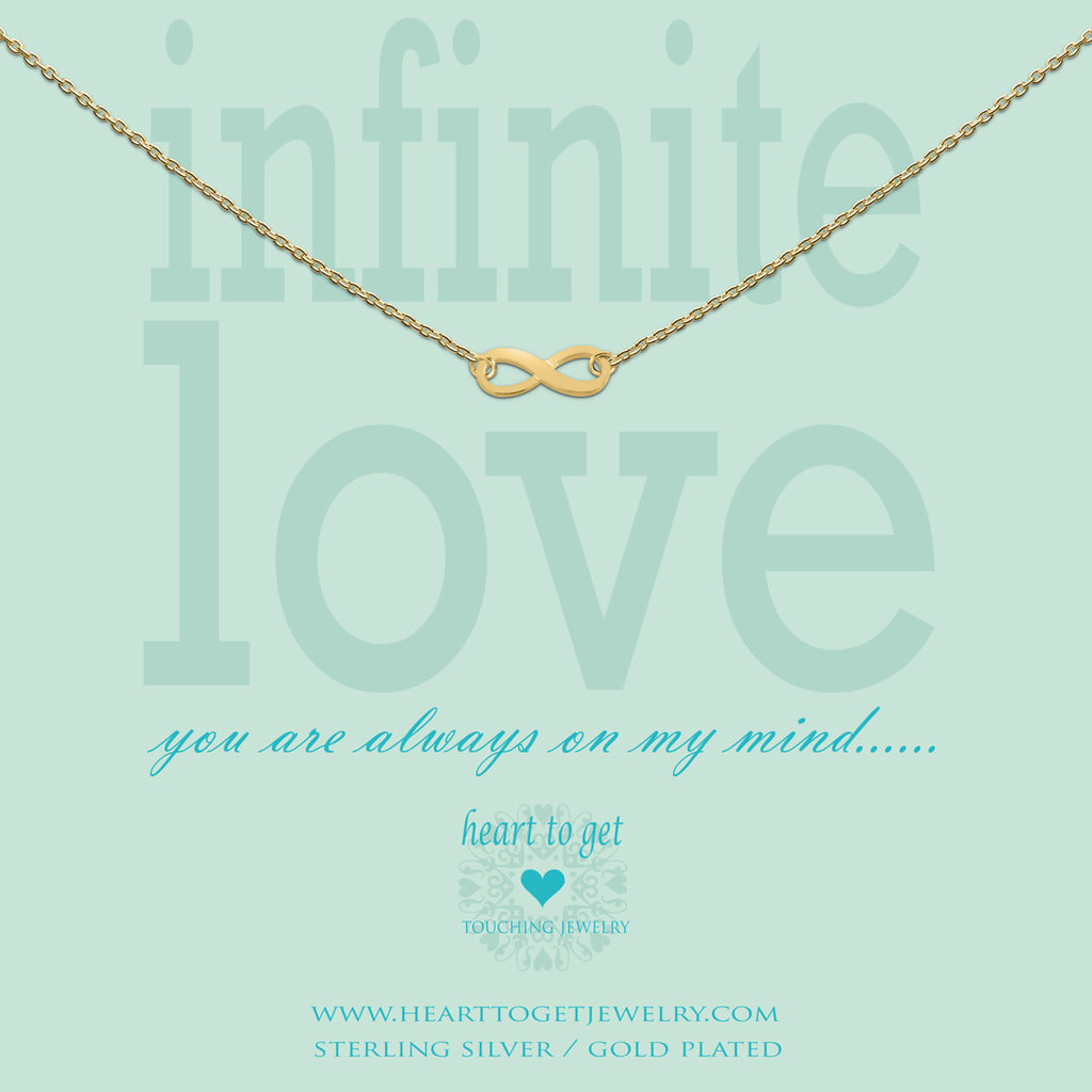 Heart to Get Heart to Get ketting Infinity Gold Plated