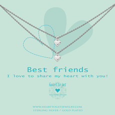 Heart to Get Heart to Get ketting 2 Chains With Heart Silver
