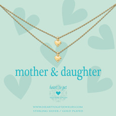 Heart to Get Heart to Get ketting 2 Chains With Heart Gold Plated