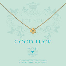 Heart to Get Heart to Get ketting Clover Gold Plated
