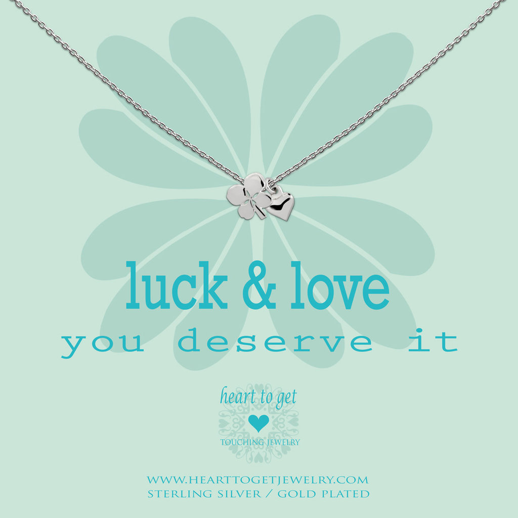 Heart to Get Heart to Get ketting Clover And Heart Silver