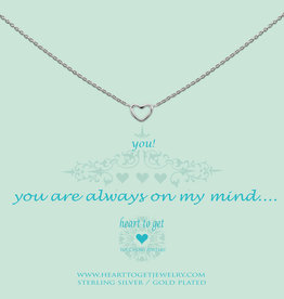 Heart to Get Heart to Get ketting Open Heart Silver