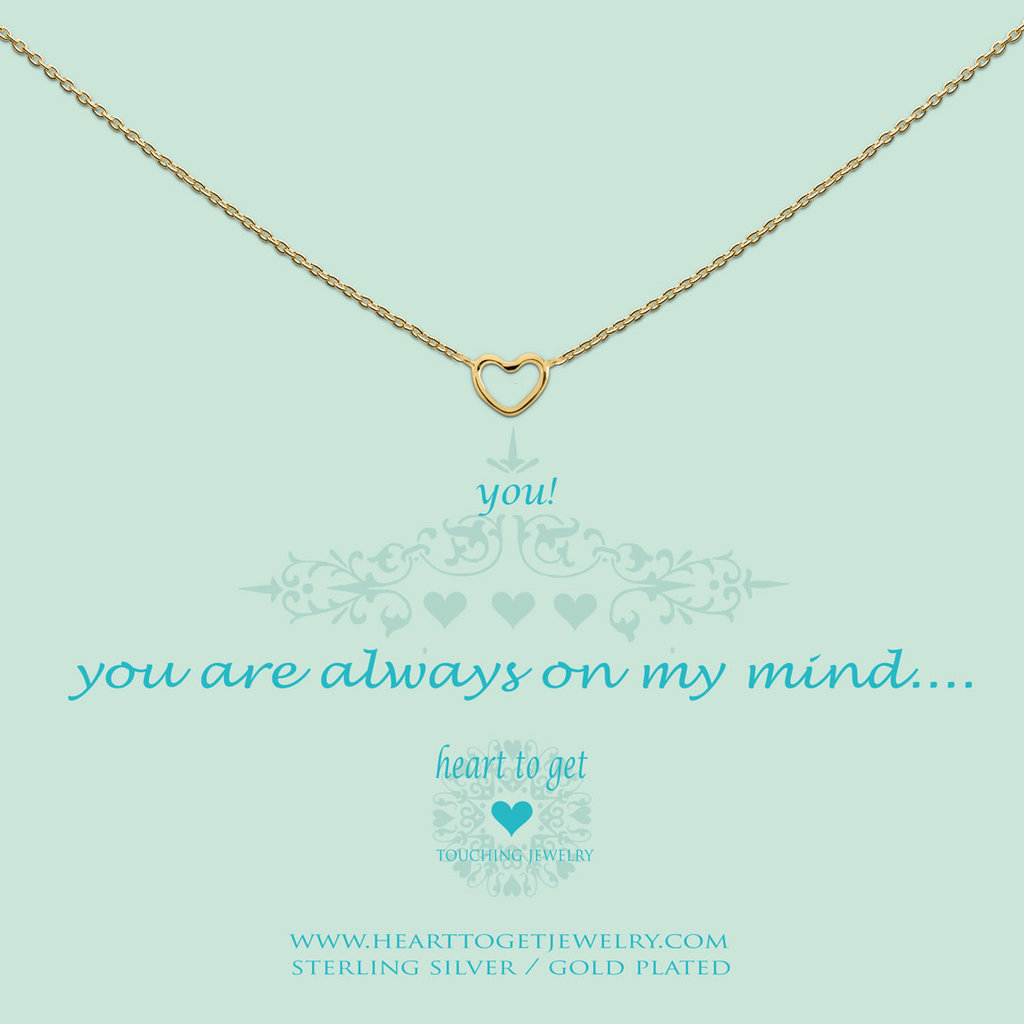Heart to Get Heart to Get ketting Open Heart Gold Plated